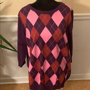 2 for $20 Woman Within Argyle Sweater